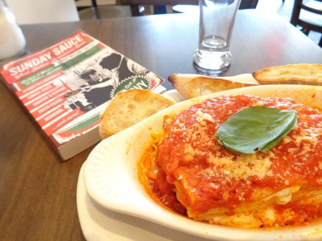 Lasagna at Caffe Dante Greenwich Village,  New York