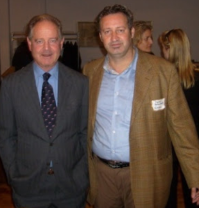 Marchese Piero Antinori with Writer Daniel Bellino-Zwicke in NEW YORK