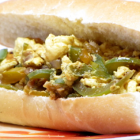 Italian Pepper and Egg Sandwich